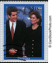GUYANA - CIRCA 1999 : stamp printed in Guyana shows John...