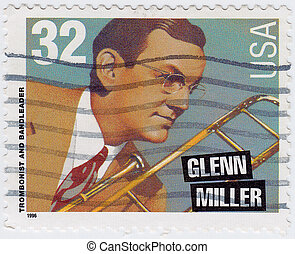 USA - CIRCA 1996 : stamp printed in USA shows Glenn Miller...