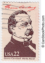 USA - CIRCA 1986 : stamp printed in the USA shows Grover...