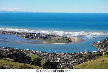 Southside beach Christchurch near New Brighton, New Zealand