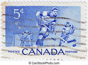 ?ANADA - CIRCA 1956 : stamp printed in Canada shows Canadian...