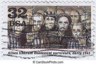 USA - CIRCA 1995 : stamp printed in USA shows Allies...