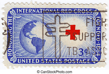 USA - CIRCA 1964 : stamp printed in USA shows International...