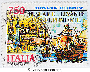 ITALY - CIRCA 1991: stamp printed in Italy show of the...
