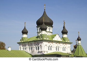 Pokrovsky Monastery in Kiev , Ukraine . - Church in the...