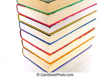 Pyramid of books