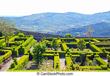 Marvao gardens(Portugal) - Beautiful landscape with...