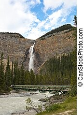 Brdige to Takakkaw Falls in Yoho National Park