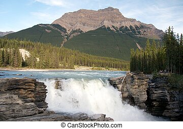 Athabasca River and Falls, Jasper, Canada