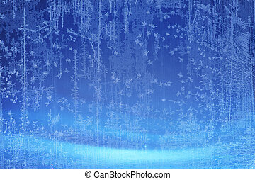 Art Christmas blue snow background - abstract Ice texture...
