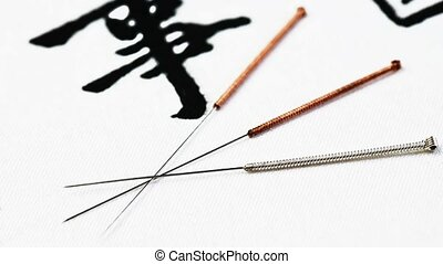 acupuncture needles, a collection of tools for chinese...