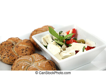 vegetarian food isolated on the white background