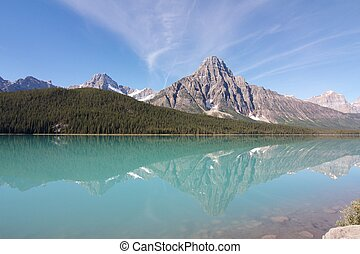 Wonderful view on Hector Lake, Canada