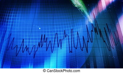 Business World Economy Statistics Looping Animated...