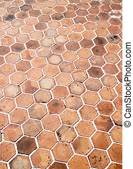 hexagon walkway background