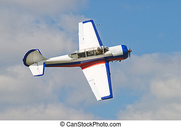 Pilotage airplane - Sport plane in air for pilotage technic...