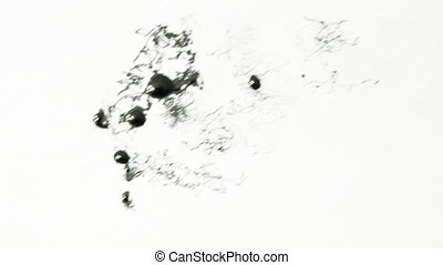 Ink Splat Abstract Stop motion