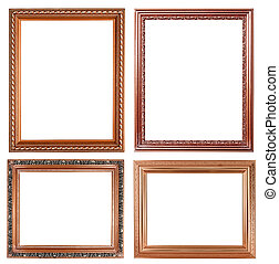 4 copper picture on white background