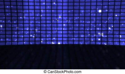 Stage Set Blue Particles Loop - Stage Virtual Set Blue...
