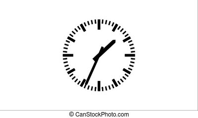 Clock-103-12 - Motion background with spinning clock in 12...
