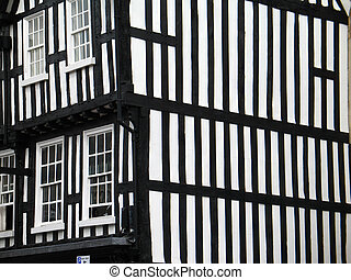 Fachwerk construction house in England, Stratford-upon-Avon