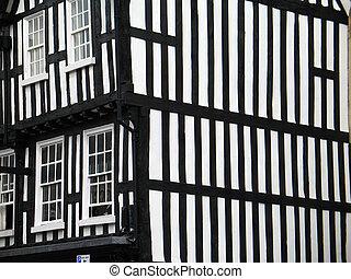 Fachwerk construction house in England, Stratford-upon-Avon