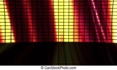 Stage Set Flowing Colors Loop