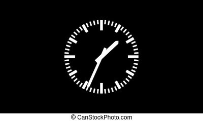 Clock-103N-12 - Motion background with spinning clock in 12...