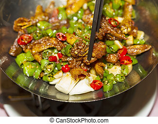 Spicy Hot Chinese Food - Spicy hot Chinese dish made in...