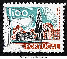 Postage stamp Portugal 1972 Torre dos Clerigos, Porto -...