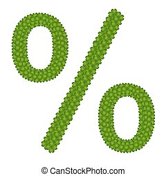 A Four Leaf Clove of Percentage Sign - Ecology Concept,...