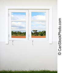 window with nature country view