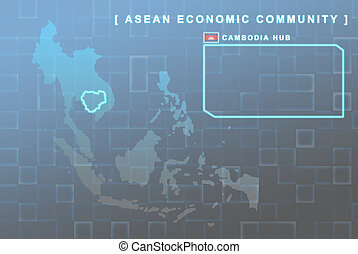 Cambodia country that will be member of AEC map