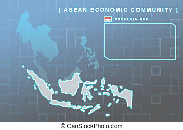 Indonesia country that will be member of AEC map