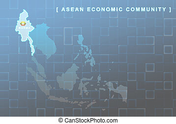 Burma country that will be member of AEC map