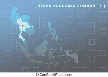 Thailandi country that will be member of AEC map