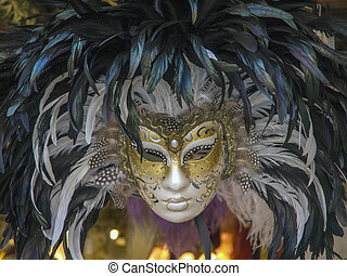 carnival masks - typical carnival mask of venice italy
