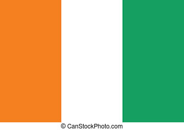 Flag of Cote d Ivoire -Ivory Coast vector illustration