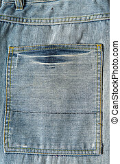Detail of the jeans pocket