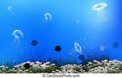 Undersea world  background