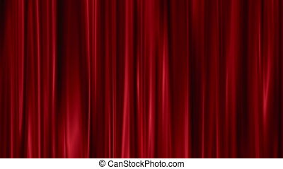 Red Curtains open