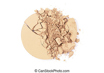 Crushed EyeShadow sample on white for magazine