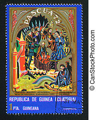 Arrest of Jesus - EQUATORIAL GUINEA - CIRCA 1972: stamp...