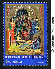 Arrest of Jesus - EQUATORIAL GUINEA - CIRCA 1972: stamp...