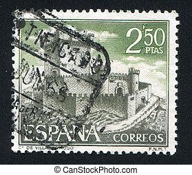 Villasobroso, Pontevedra - SPAIN - CIRCA 1968: stamp printed...