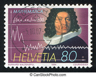 Mathematician Jacob Bernoulli - SWITZERLAND - CIRCA 1994:...
