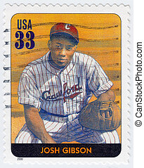 USA - CIRCA 2000: stamp printed in the USA shows Josh Gibson...