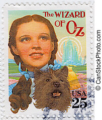 USA - CIRCA 1978 : stamp printed in USA shows Judy Garland...
