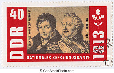 GERMANY- CIRCA 1972 : stamp printed in Germany show portrait...