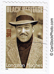USA - CIRCA 2002 : stamp printed in USA show American poet,...